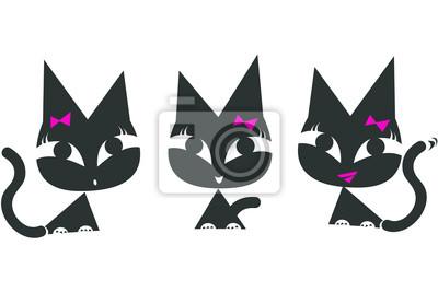 Černé dívky milují jíst kočička