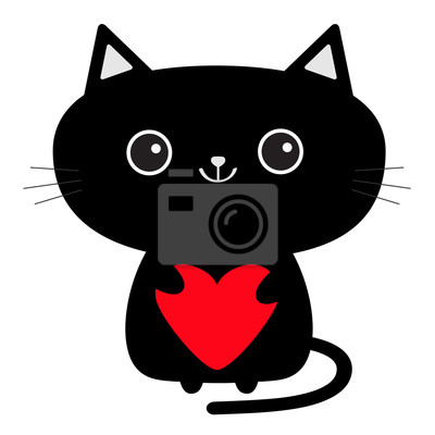 roztomilé černé dívky kočička
