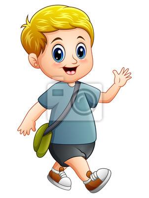 Roztomily Chlapec Kreslene Chuze Fototapeta Fototapety Poznavani