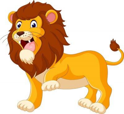 Fototapeta Roztomilý lev karikatura ilustrační