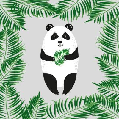 Fototapeta Roztomilý panda medvěd. Vektorové ilustrace.