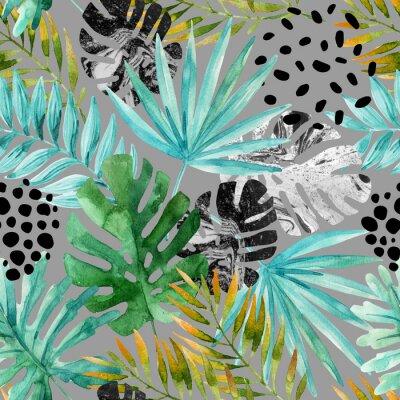 Fototapeta Ručně kreslené abstraktní tropické letní pozadí