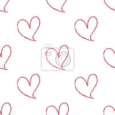 Rucne Kreslene Srdce Bezesve Vzor Fototapeta Fototapety Mraky 14