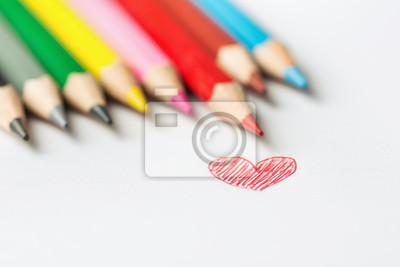 Rucne Kresleny Doodle Cervene Srdce Fotografie Rady Vicebarevnych