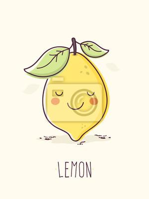 Rucne Kresleny Roztomily Citron Charakter Fototapeta Fototapety