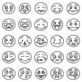 ff2b1d31c95 Ruční kreslení emotikony nebo vektor doodle emocionálních tváří · Smiley tváře  ikony