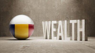 Rumunsku. Bohatství Concept.