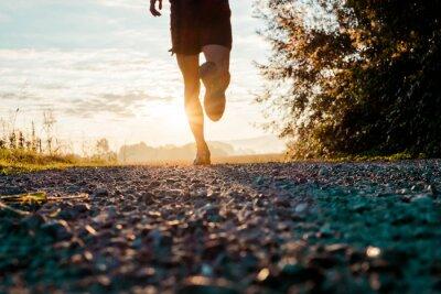 Fototapeta Running in the country