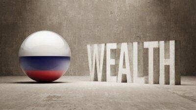Rusko. Bohatství Concept.