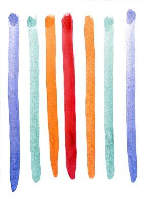 Fototapeta Různobarevné pruhy akvarel