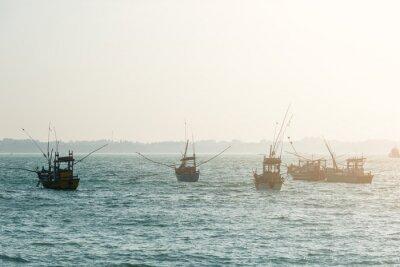 Fototapeta rybářské lodě