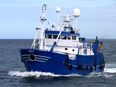 Fototapeta Rybářské plavidlo 15b, rybářské plavidlo, které probíhají do přístavu přistát ryb.