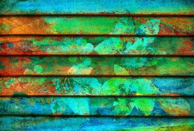 Fototapeta rytmické řady dřevěné barevné linky