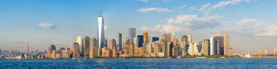 Fototapeta S vysokým rozlišením panoramatický výhled na centrální panorama New Yorku vidět z oceánu