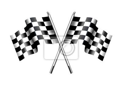 Fototapeta Šachovnicová rovinka Motor Racing