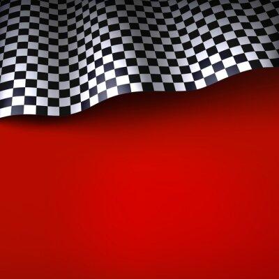 Fototapeta Šachovnicovou vlajku