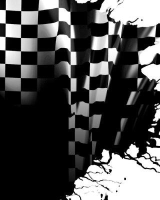 Fototapeta šachovnicovým praporkem