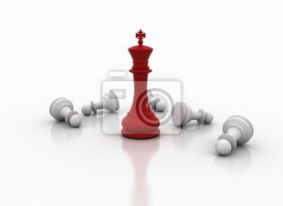 Šachový král stojící