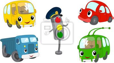 Sada Kresleny Autobus Automobil Nakladni Automobil Trolejbusovych