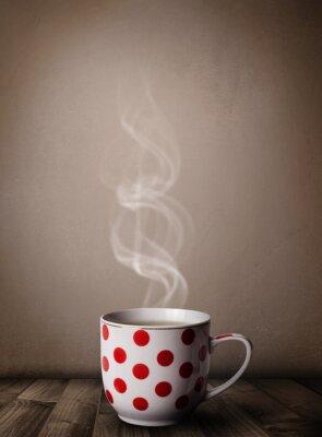 Fototapeta Šálek kávy s abstraktní bílé páry