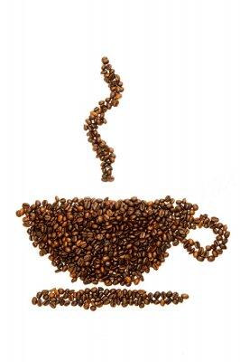 Fototapeta Šálek kávy s kávových zrn