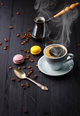 Fototapeta Šálek kávy s obilím a cezve