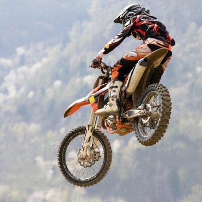 Fototapeta salto con moto da cross