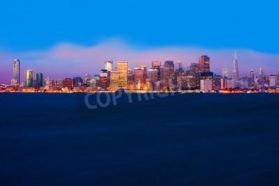 Fototapeta San Francisco panorama v noci