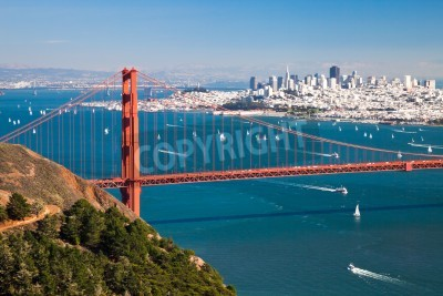 Fototapeta San Francisco Panorama ze San Francisco Bay