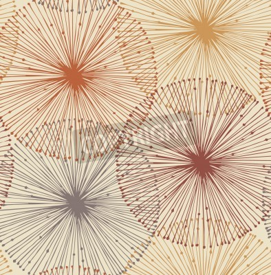 Fototapeta Sandy and orange radial elements  Seamless background for patterns, cards, textile, wallpapers, web pages