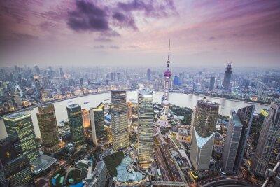 Fototapeta Šanghaj, Čína Letecký pohled