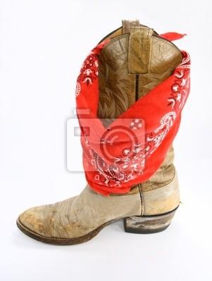 Šátek s kovbojské boty fototapeta • fototapety bez sedla 09a5385e6c