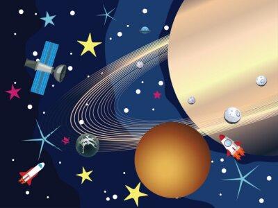 Fototapeta Saturn v prostoru