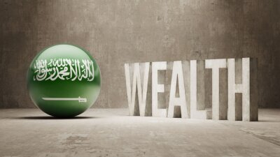 Saudská Arábie. Bohatství Concept.