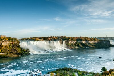 Fototapeta scénický pohled Niagarských vodopádů na podzim