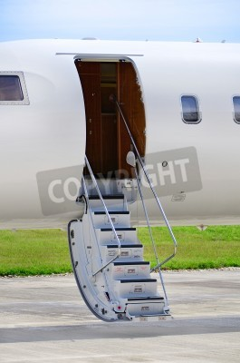 Fototapeta Schody na luxusní soukromé tryskáče - Bombardier Global Express