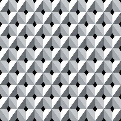 Fototapeta Seamless 3d geometrický vzor diamanty.