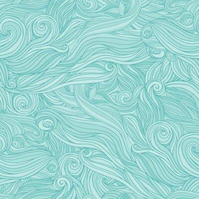Fototapeta Seamless abstract pattern, tangle wavy hair background