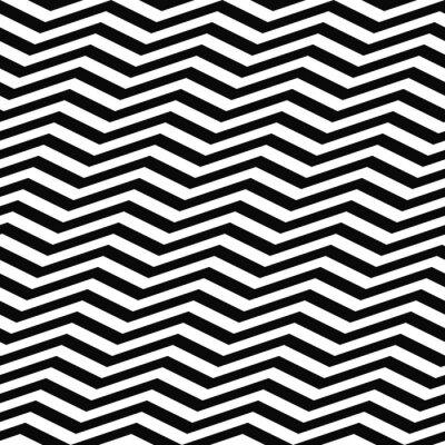 Fototapeta Seamless černá bílá Chevron vzor