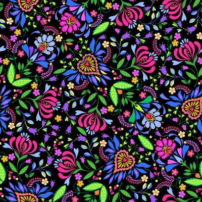 Fototapeta seamless folk vector pattern