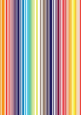 Fototapeta Seamless jasný plně barevný pruh vzor. Vektorové ilustrace f