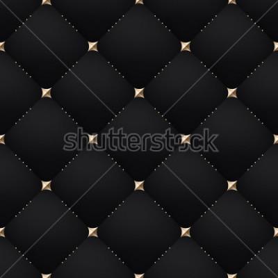 Fototapeta Seamless luxury dark black pattern and background. Vector Illustration