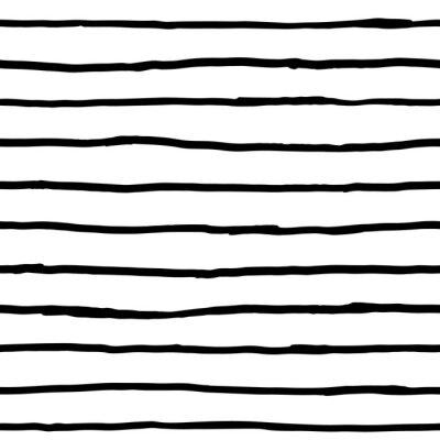 Fototapeta Seamless pattern - inkoustové vodorovné čáry