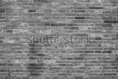 Fototapeta Šedá cihla stěny textury.
