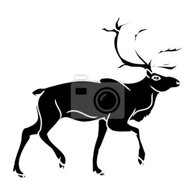 Šedá jelen (siluetu) 2 fototapeta • fototapety krásná 041809ec30