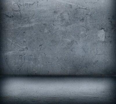 Fototapeta Šedé betonové zdi a podlahy zblízka