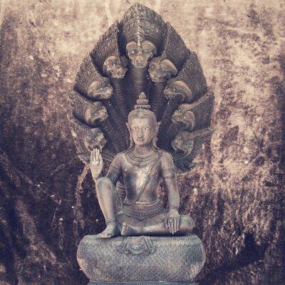 Fototapeta Sedící socha Buddhy