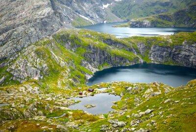 Fototapeta Severní Norsko krajiny. Lofoten ostrovy