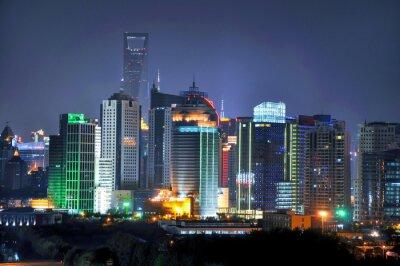 Fototapeta Shanghai panorama v noci