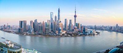 Fototapeta shanghai skyline panoramic view